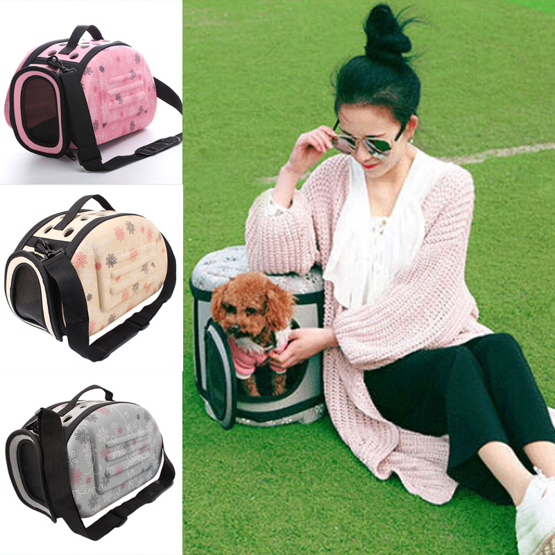 Pet Carrier For Dogs Cat Folding Cage Collapsible Crate Handbag Plastic Carrying Bags Pets Supplies Sac De Transport Pour Chien(China (Mainland))