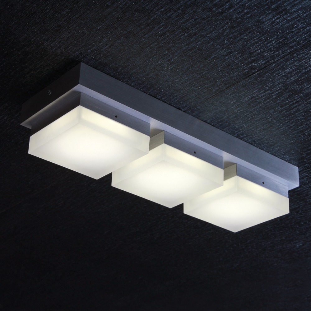 Led 3 heads ceiling lamp modern bedroom lights ceiling for Balcony lights