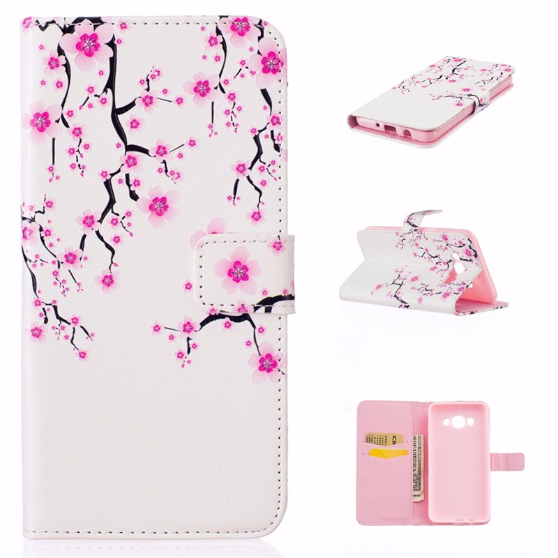 Fashion 3D Relief Pattern Leather Case For Samsung Galaxy J5 2016 J510 J510F J510H Flip Stand Wallet Cover Card Slot Phone Bag