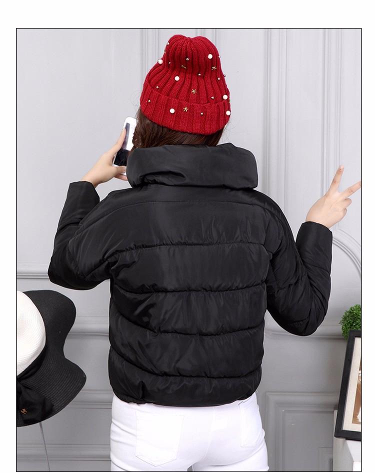 2016 yeni varış sıcak satmak pamuk casual fermuarlar kadınlar aşağı ceketler moda basit düz renk kat aşağı cepler hiçbir kap ceket