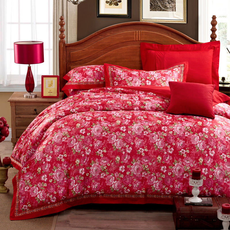 Satin Bed Set Home Furniture Design