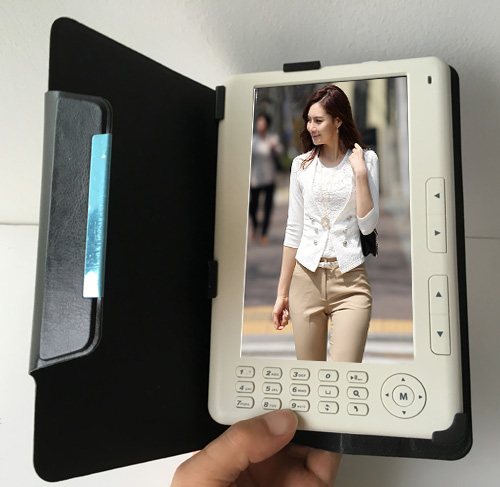 High Quality HD 720P 7 inch Ebook Reader Built-in 8GB + Leather Case E-book(China (Mainland))