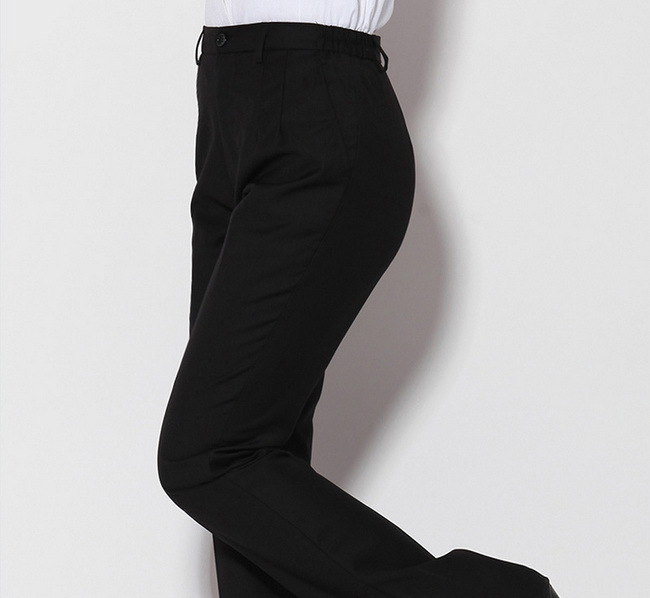 Plus size black pants elastic waist