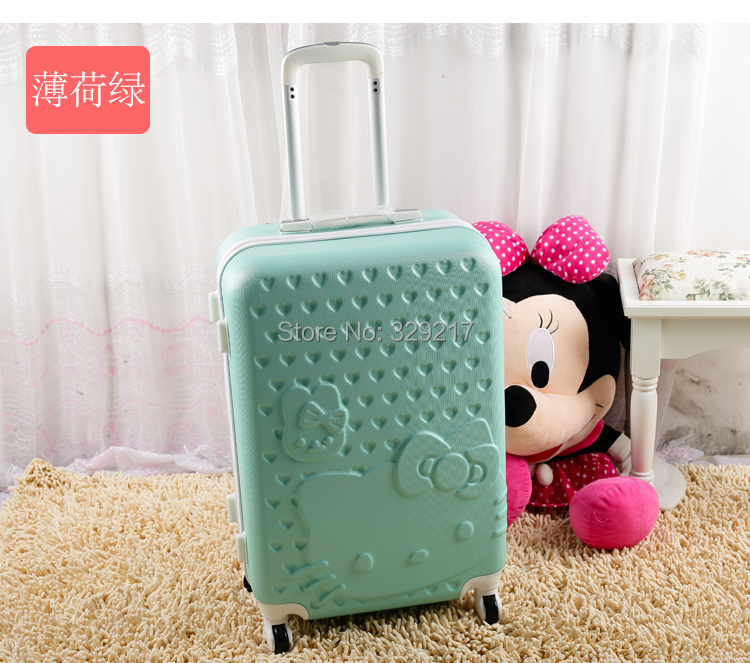 Cute Hello Kitty luggage trolley suitcase caster lockbox board chassis color your choice(China (Mainland))