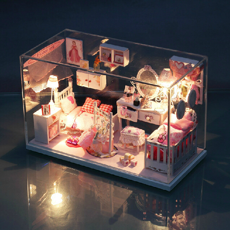 Diy Doll House Model Building Kits Wooden 3d Handmade