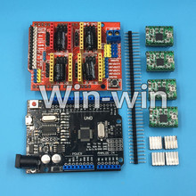 Buy 1set CNC Shield Expansion Board Arduino 3D Printer + 4xA4988 Stepper Motor Driver Heat Sink + micro usb UNO R3 for $10.20 in AliExpress store