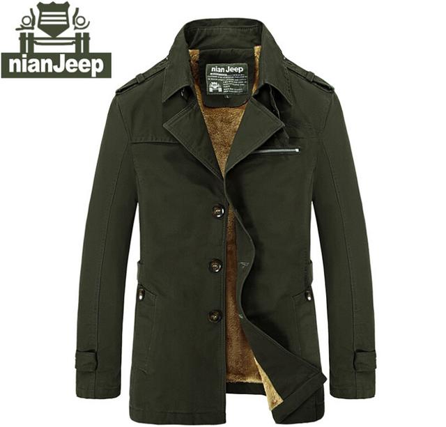 Зимняя куртка мужчины бренд одежды мужские высота пальто теплый хлопок нянь джип ...