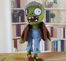 New hot sale 10pcs/set American plush toy anime figure doll toys Zombie Lawn of the Dead Plants vs. Zombies 30CM free shipping(China (Mainland))