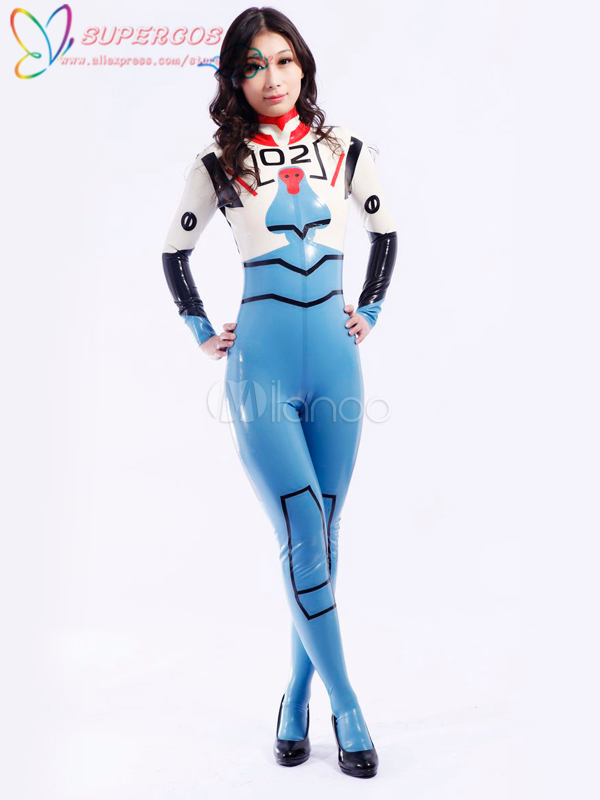 High Quality Halloween Carnival Party Modern Blue Multi Color Unisex Bodysuit Latex Catsuits Zentai Suit