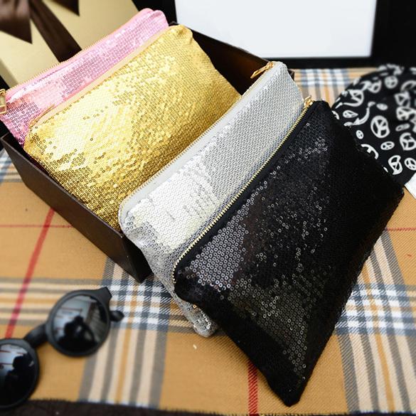 Free Shipping Women Clutch Dazzling Sequins Glitter Sparkling Handbag Evening Bag Fashion KK#Y(China (Mainland))