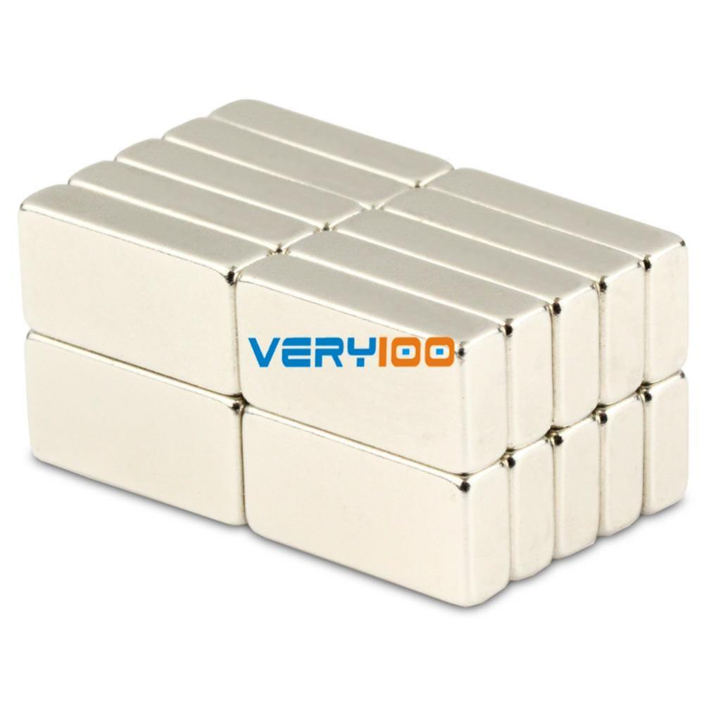 Гаджет  20pcs Strong Power N50 Block Magnets 20 x 10 x 5mm Cuboid Rare Earth Neodymium None Строительство и Недвижимость