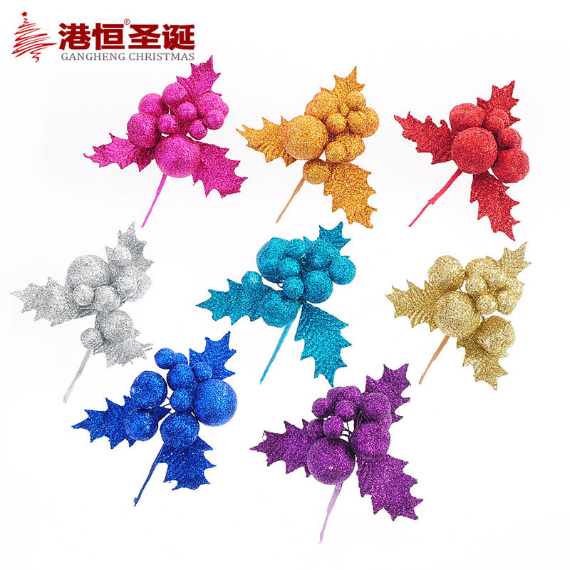 Multicolor Artificial Christmas flowers decoration PVC Christmas tree decorations ornament shining bling bling tri-angle flower(China (Mainland))