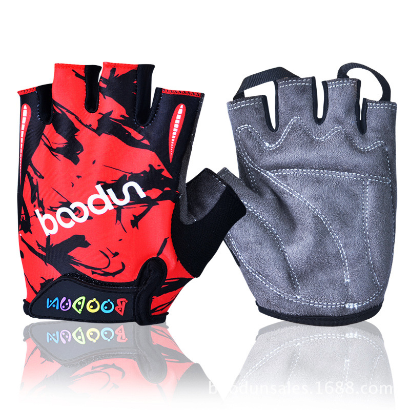 New Summer Women Cycling Gloves Kids Half Finger Skate Sport Riding Road Mountain Bike Gloves for Boys and Girls Child M L Size(China (Mainland))