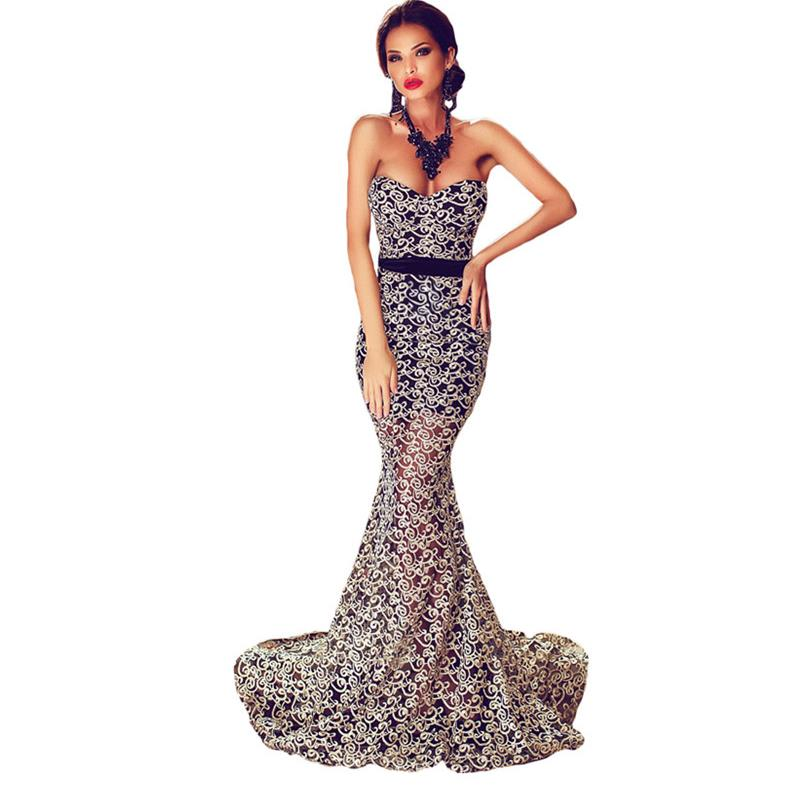 ZKESS Valentine Elegant Strapless Mermaid Evening Gown LC60891 Party robe de soiree longue Woman Backless Dresses(China (Mainland))