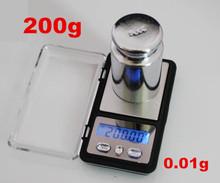 200g x 0.01g electronic scale Mini LCD Digital Pocket Jewelry Gold Diamond Watch Gram weight balance(China (Mainland))