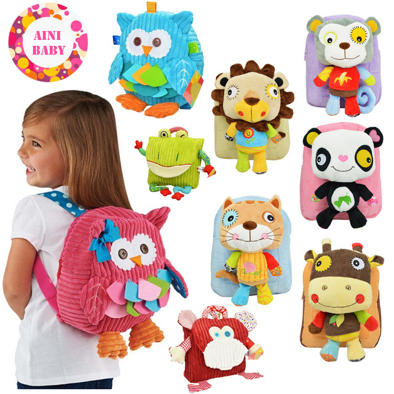 Cutely !! New Cartoon Soft Animals Children Backpack For Baby School Bag For Girl Boy School Bags kids Backpack Mochila(China (Mainland))