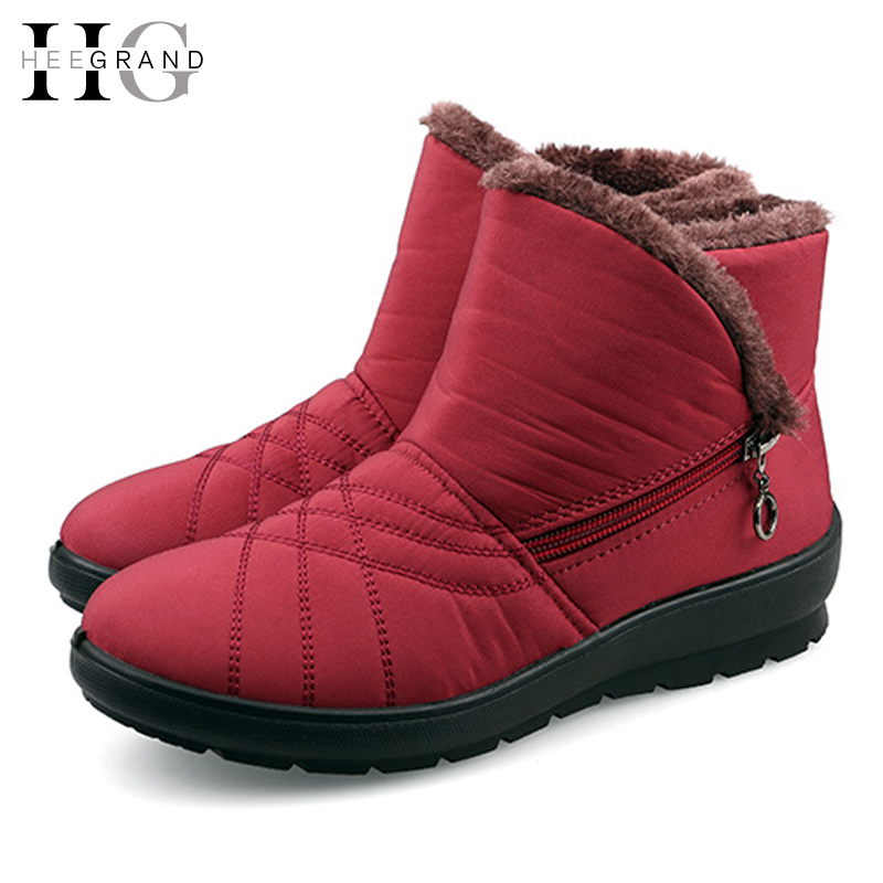Snow Women Boots 2015 Platform Shoes Woman Waterproof Slip-resistant Thermal Maternity Cotton-padded Winter Boots XWM118(China (Mainland))