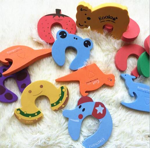 20pcs/lot Animal design door jammer finger corner guard child kids baby safety drawer protector stopper