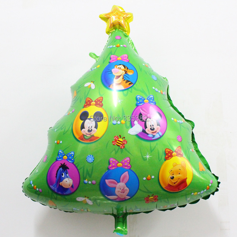 50pcs/lot New Christmas Trees mylar Balloons for Christmas Party Decoration trees helium foil Balloons party air globes<br><br>Aliexpress