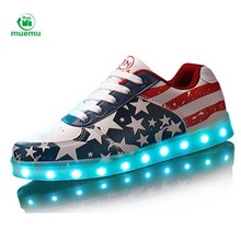 2016 Led Shoes Fashion Light Up Casual Shoes For Adults 90 Colors Outdoor Glowing Men light up shoes zapatillas deportivas mujer(China (Mainland))