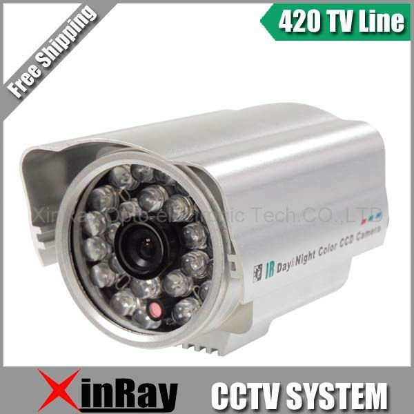 "Free Shipping,1/4"" Sharp CCD Sensor 24 IR LED Security Infrared 420TV lines Color CCTV Camera,Waterproof Outdoor Camera(China (Mainland))"