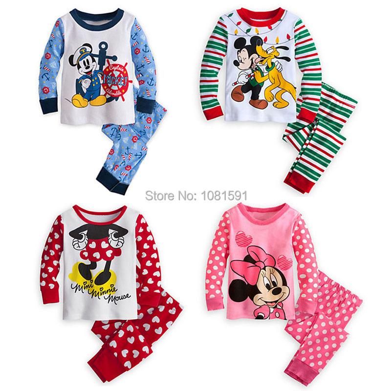 2015 spring&Winter Babys Sleepwear Cotton Boys Pyjamas Girls Clothing Children's Clothes Baby Sets Underwear kids pajama sets(China (Mainland))