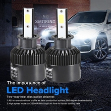 Buy CARPRIE H3 110W 20000LM LED Headlight Conversion Kit Car Beam Bulb Driving Lamp 6000K TJ for $18.08 in AliExpress store