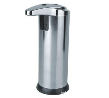 280ml New Stainless Steel IR Sensor Touchless Automatic Liquid Soap Dispenser for Kitchen Bathroom Home B186-2(China (Mainland))