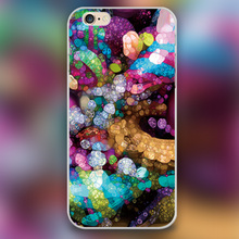Rainbow Bling Design transparent case cover cell mobile phone cases for Apple iphone 4 4s 5 5c 5s 6 6s 6plus hard shell