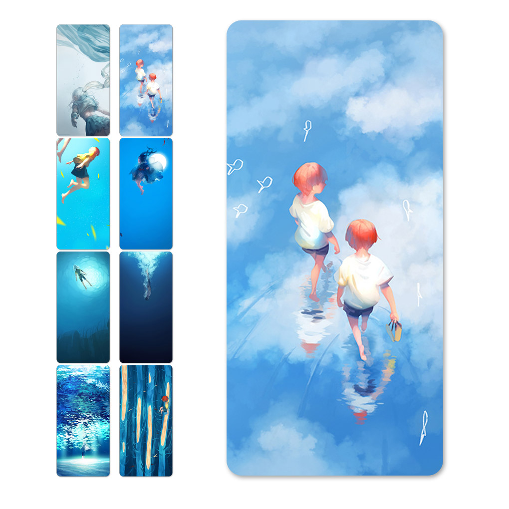 Hot New Recommended Blue theme Dive Pattern 10000mAh Mini Power Bank For iPhone for Samsung(China (Mainland))