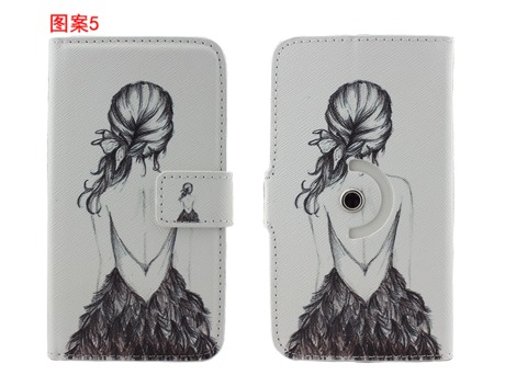 Utime U6 Case,Flip Leather Cartoon Painting Cover for Utime U6 Free Shipping(China (Mainland))