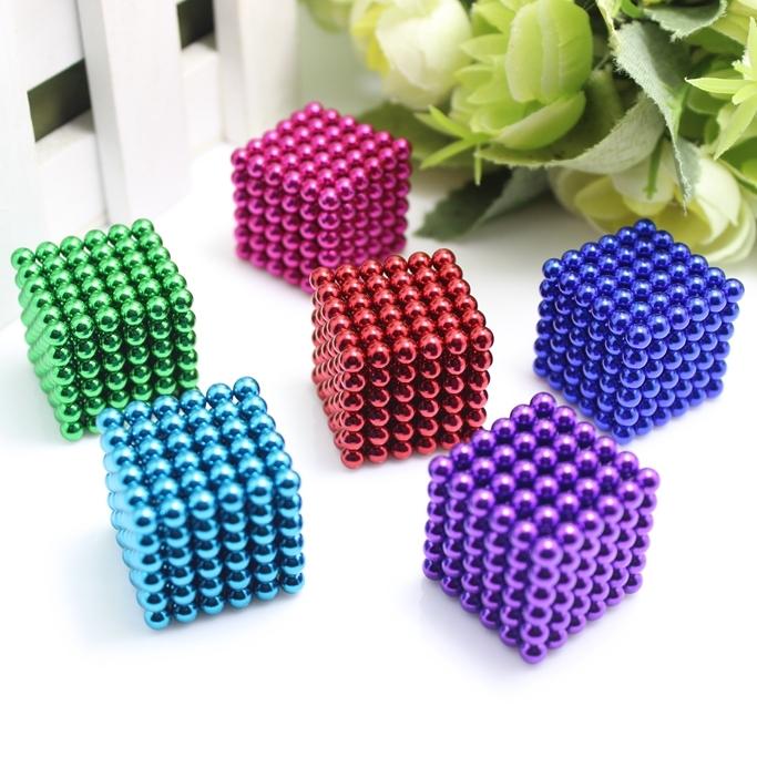 216pcs 4mm neodymium magnetic balls spheres beads magic cube magnets puzzle birthday present for children - vacuum package.(China (Mainland))