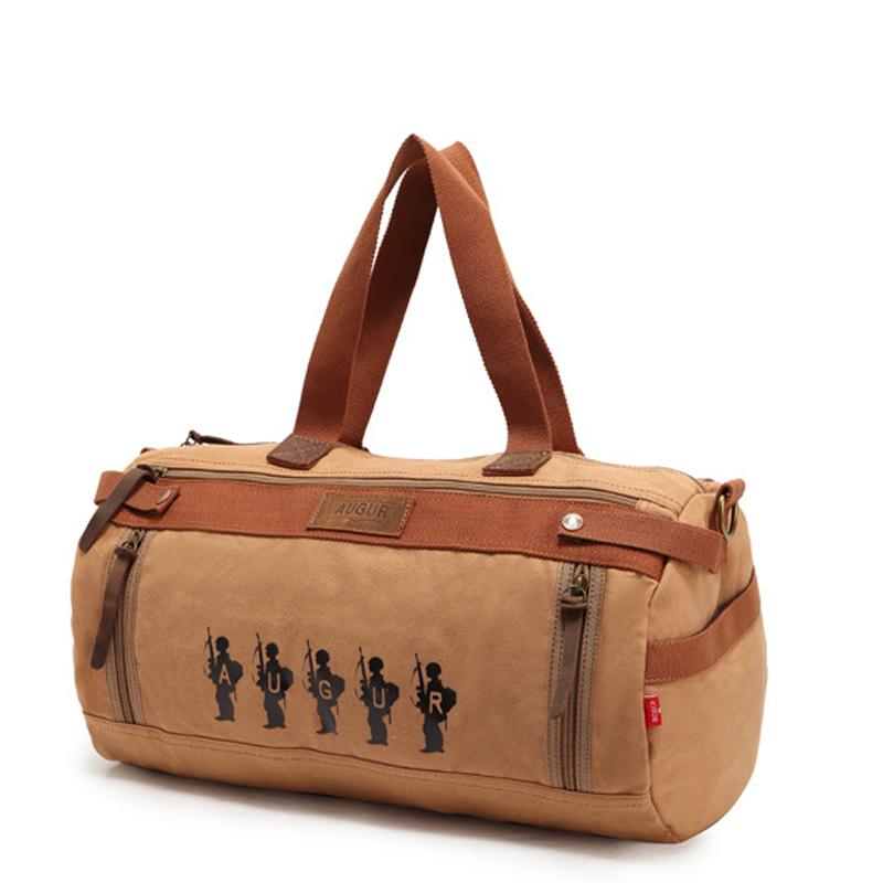 2015 Crazy Horse Canvas Multifunction Military Barrel Shaped Men Messenger Bags Handbag Outdoor Gym Bag Khaki Army Green Coffee(China (Mainland))