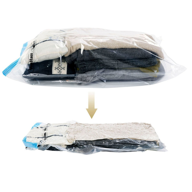 Use Without Air Pump 37*53 New Design Space Saver Travel Compress Vacuum Roll-Up Storage Bag(China (Mainland))