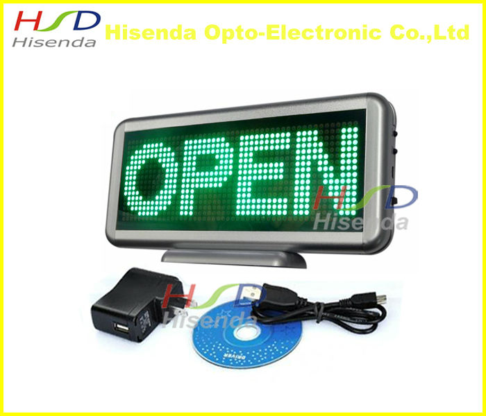 Green LED Screen Board Text Light Name Badge Scrolling Message Sign Display Advertising Recharge LED mini board panel(China (Mainland))