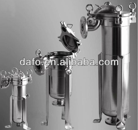 Large filtering area stainless steel side entry standard bag water filter(China (Mainland))