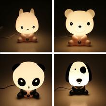 Novelty PVC Plastic Baby Bedroom Lamps Night Light Cartoon Pets Rabbit Panda Sleep Led Kids Lamp Bulb Nightlight for Children(China (Mainland))