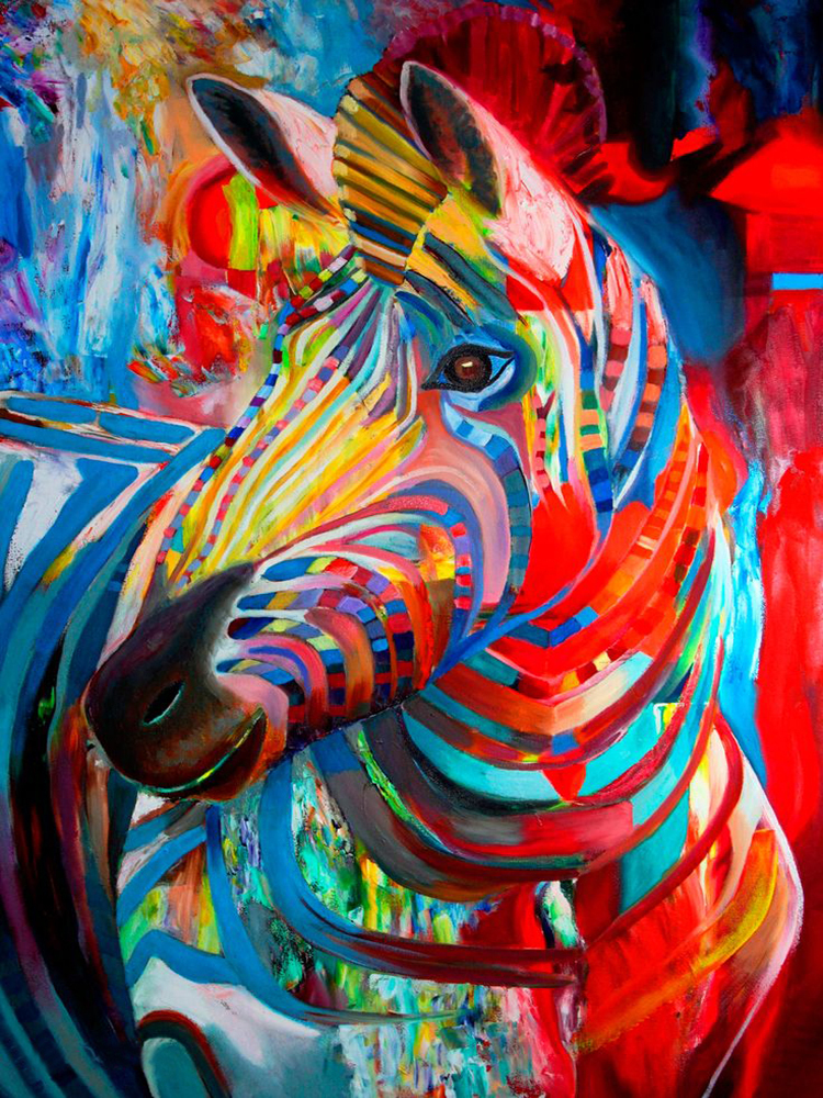 Chambre Couleur Chaude : Abstract Animal Oil Paintings On Canvas