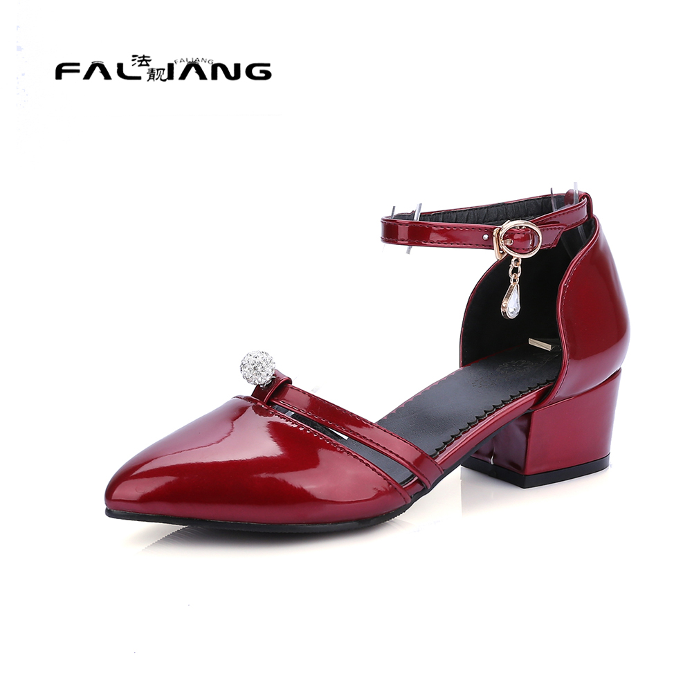 Womens sandals size 13 - Big Size 11 12 13 14 15 Elegant Shallow Buckle Strap Casual Solid Square Heel Women S