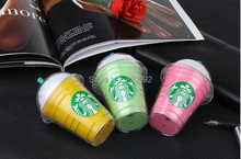 8pcs/lot 5200mAh Starbucks cup power bank mobile charger for iPhone 6 5 Samsung Galaxy External backup battery mobile power bank