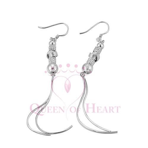925 sterling silver fashion long tassels ear rings(China (Mainland))