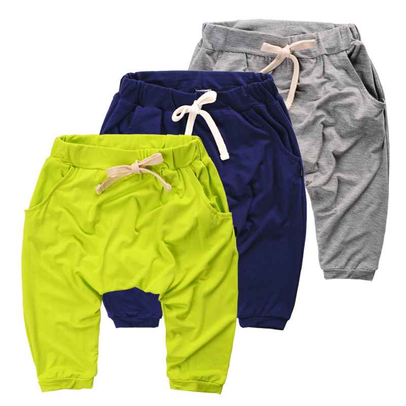 Summer Children Harem Pants Kids Clothes Casual 3/4 Length Trousers Baby Boys Calf-length Pants For Age 2-8T 3 Colors For Choice(China (Mainland))