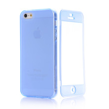 free shipping smart TPU Case With Transparent Touch Screen Protector Flip Cover Pouch for apple iphone 5(China (Mainland))