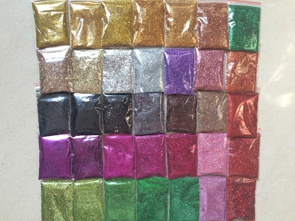 35 colors nail art glitter powder PET Shimmer Decoration Fine Dust UV Gel Shining Crafts(China (Mainland))