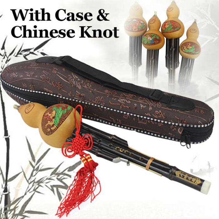 Traditional Chinese Hulusi Bamboo Flute Wooden Dizi Handmade Professional Musical Instrument Xiao Pipe Flauta C&B Flat With Case