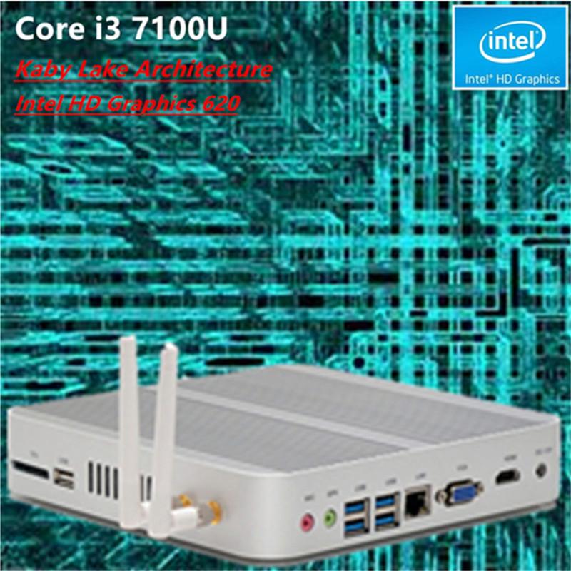 [CE,FCC,ROHS] Topton Fanless Mini PC Windows 10 linux 7th Gen Intel Core i3 7100u Barebone Intel HD Graphics 620 Kaby Lake(China (Mainland))