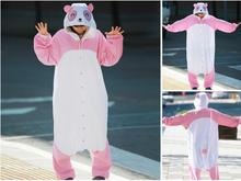 Animal Costume Cosplay Adult All in One Pyjamas JP Animal pink purple white  yellow Orange bear and panda Pajamas free shipping(China (Mainland))