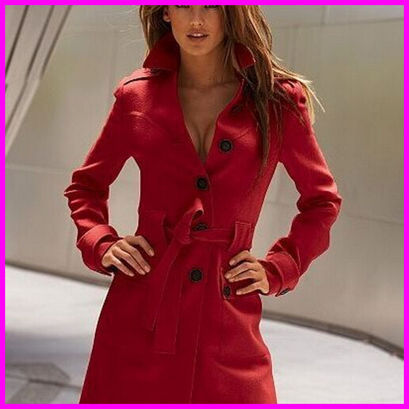 2014 Design New Autumn Winter Trench Jacket Coat Fashion Womens Warm Long Wool Overcoat For ladiesОдежда и ак�е��уары<br><br><br>Aliexpress