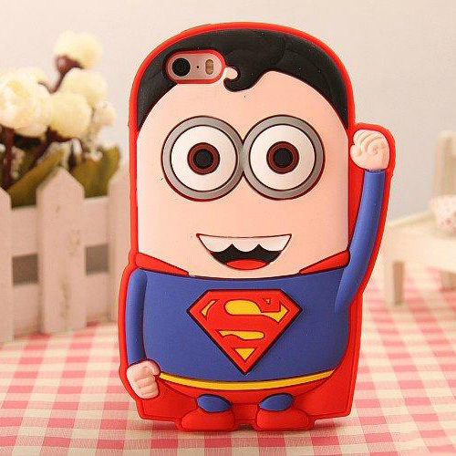Brand Name Mobile Phone Cases 3D Soft Silicon Superman Case for iPhone 4 4S American Captain, Spiderman, Superman Batman(China (Mainland))