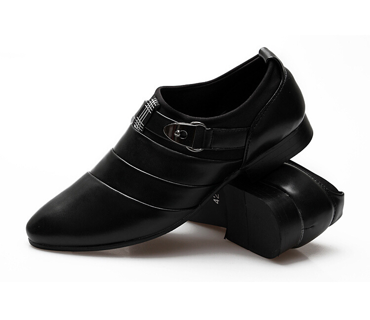 new fashion solid slip on autumn shoe leather